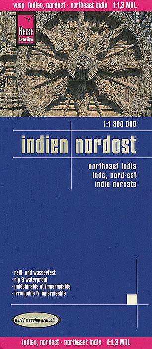 Indien. Nordost. Карта indien nordwest 1 1 300 000
