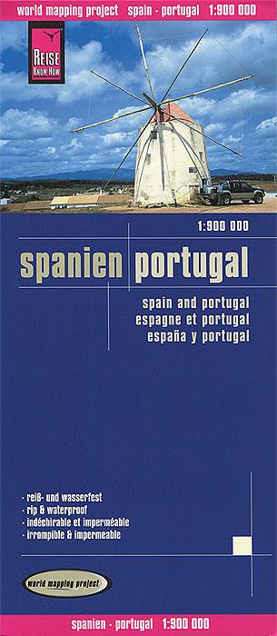 Spanien. Portugal. Карта spanien portugal 1 700 000