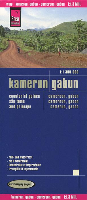 Kamerun. Gabun. Карта