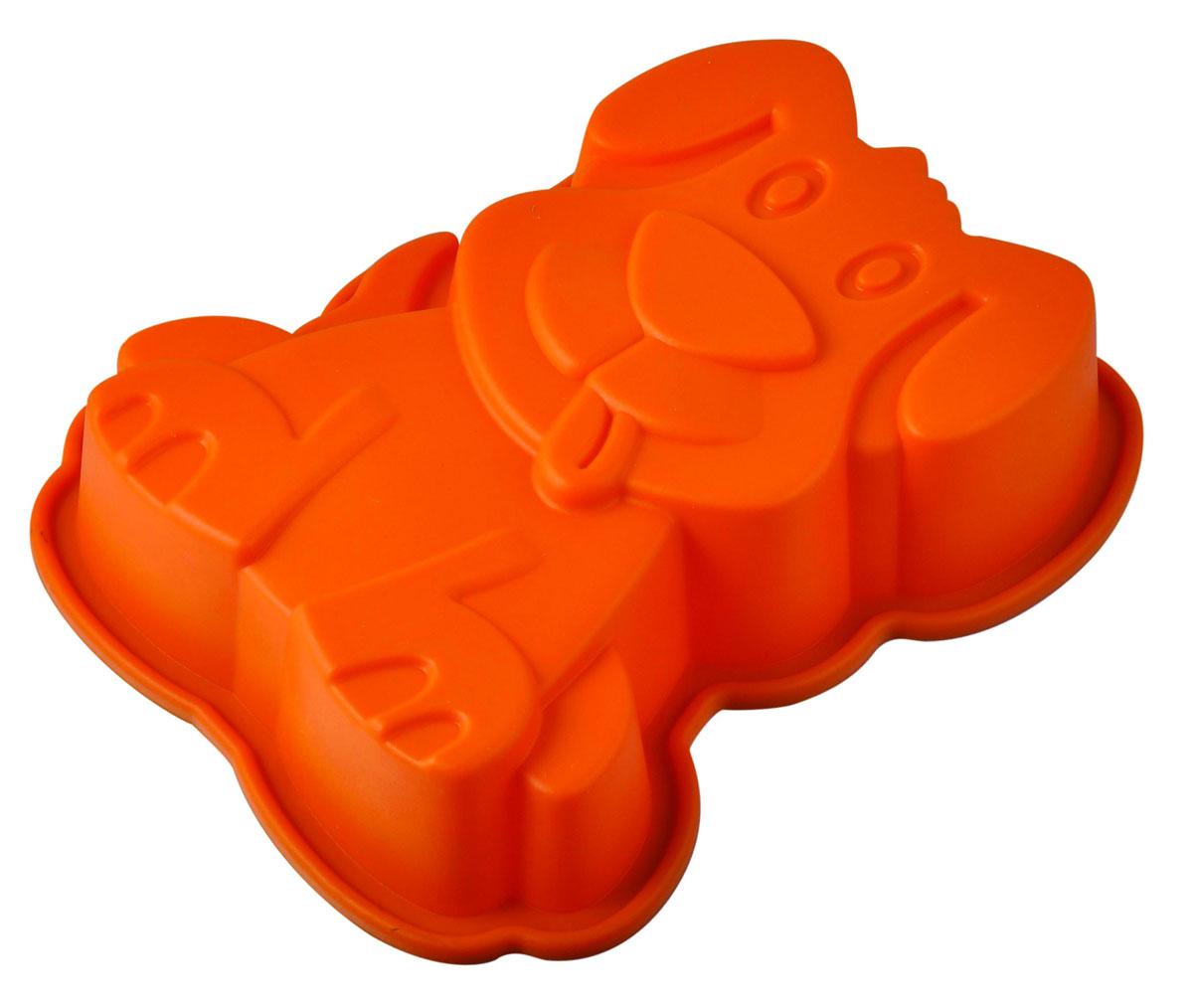 Форма для выпечки и заморозки Regent Inox Пёс Барбос, силиконовая, цвет: оранжевый, 20 х 17 х 4,5 см93-SI-FO-75Форма для выпечки и заморозки Пёс Барбос выполнена из силикона и предназначена для изготовления выпечки, конфет, мармелада, желе, льда и даже мыла. С помощью формы в виде забавной собачки любой день можно превратить в праздник и порадовать детей.Силиконовые формы выдерживают высокие и низкие температуры (от -40°С до +230°С). Они эластичны, износостойки, легко моются, не горят и не тлеют, не впитывают запахи, не оставляют пятен. Силикон абсолютно безвреден для здоровья.Не используйте моющие средства, содержащие абразивы. Можно мыть в посудомоечной машине. Подходит для использования во всех типах печей. Характеристики:Материал: силикон. Общий размер формы: 20 см х 17 см х 4,5 см. Размер упаковки: 28,5 см х 19,5 см х 5 см. Изготовитель: Италия. Артикул: 93-SI-FO-75.