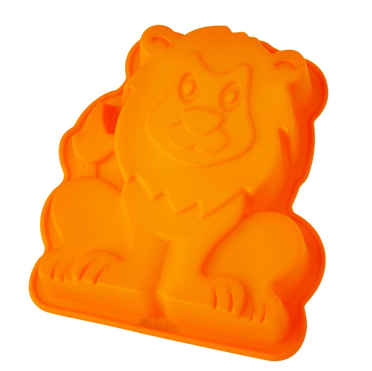 Форма для выпечки и заморозки Regent Inox Царь зверей, силиконовая. цвет: оранжевый, 20 х 17 см93-SI-FO-77Форма для выпечки и заморозки Царь зверей выполнена из силикона и предназначена для изготовления выпечки, конфет, мармелада, желе, льда и даже мыла. С помощью формы в виде забавного львёнка любой день можно превратить в праздник и порадовать детей.Силиконовые формы выдерживают высокие и низкие температуры (от -40°С до +230°С). Они эластичны, износостойки, легко моются, не горят и не тлеют, не впитывают запахи, не оставляют пятен. Силикон абсолютно безвреден для здоровья.Не используйте моющие средства, содержащие абразивы. Можно мыть в посудомоечной машине. Подходит для использования во всех типах печей. Характеристики:Материал: силикон. Общий размер формы: 20 см х 17 см х 4,5 см. Размер упаковки: 30 см х 19,5 см х 5 см. Изготовитель: Италия. Артикул: 93-SI-FO-77.