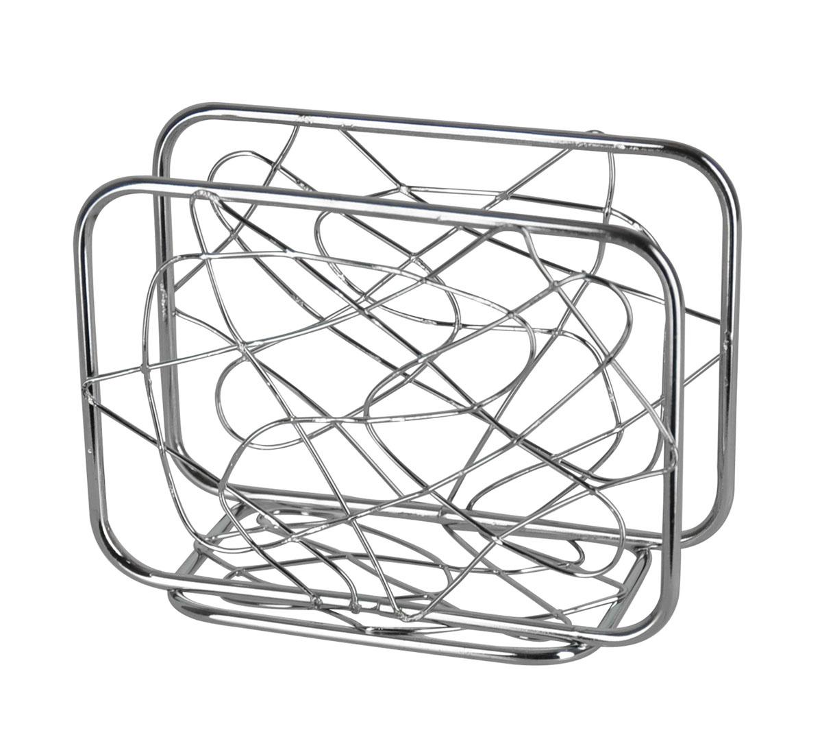 Салфетница Trina. 93-TR-02-0693-TR-02-06Салфетница Trina - это целое произведение искусства выполненное из прутка. Замысловатые завитки позволяют выглядеть салфетнице очень стильно и воздушно. Приобретите этот предмет сервироки и увидите, как приобразиться Ваш стол. Характеристики:Материал:хромированная сталь. Размер: 12 см х 9 см х 6 см. Размер упаковки: 12,5 см х 9,5 см х 6,5 см. Производитель: Италия. Артикул:93-TR-02-06.