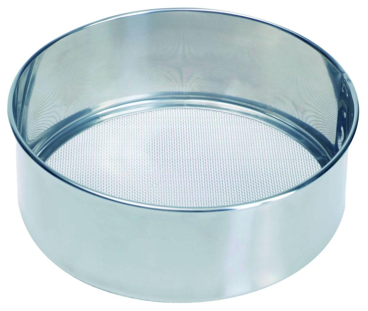 Сито Pronto. Диаметр 16 см93-PRO-32-16Сито Linea Pronto, выполненное из высококачественной нержавеющей стали, станет незаменимым аксессуаром на вашей кухне. Оно предназначено для просеивания муки и процеживания. Прочная стальная сетка и корпус обеспечивают изделию износостойкость и долговечность.Такое сито станет достойным дополнением к кухонному инвентарю. Характеристики:Материал: нержавеющая сталь.Диаметр: 16 см.Высота стенок: 5 см.Артикул: 93-PRO-32-16.