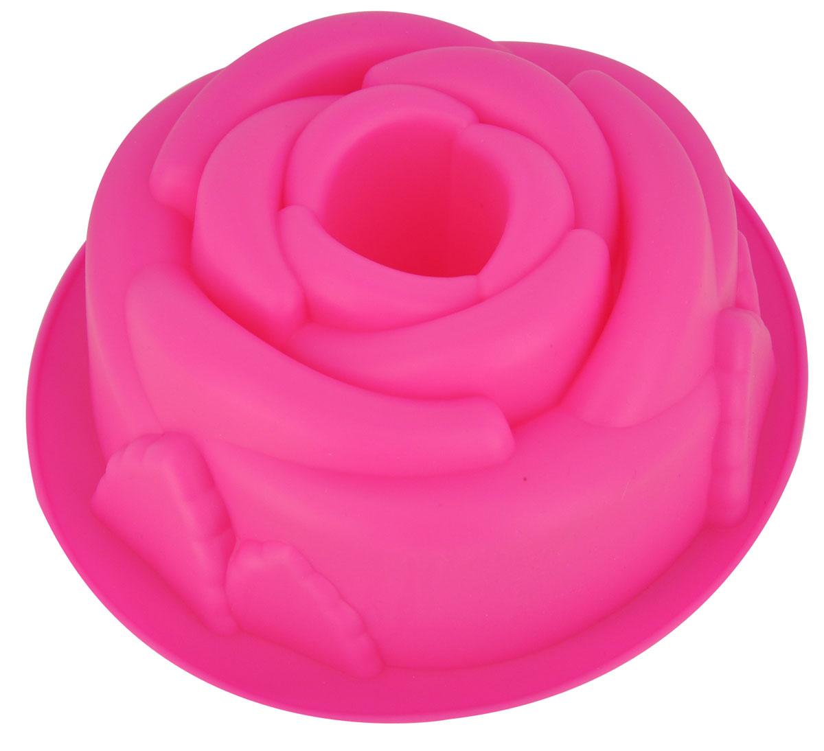 Форма для выпечки и заморозки Regent Inex Розовый цвет, 21 х 19 х 7 см93-SI-FO-50Форма для выпечки и заморозки Розовый цвет выполнена из силикона и предназначена для изготовления выпечки, мармелада, желе и даже мыла. С помощью формы в виде прекрасной розы любой день можно превратить в праздник и порадовать детей.Силиконовые формы выдерживают высокие и низкие температуры (от -40°С до +230°С). Они эластичны, износостойки, легко моются, не горят и не тлеют, не впитывают запахи, не оставляют пятен. Силикон абсолютно безвреден для здоровья.Не используйте моющие средства, содержащие абразивы. Можно мыть в посудомоечной машине. Подходит для использования во всех типах печей. Характеристики:Материал: силикон. Общий размер формы: 21 см х 19 см х 6 см. Диамер отверстия: 4 см. Размер упаковки: 30 см х 23,5 см х 6,5 см. Изготовитель: Италия. Артикул: 93-SI-FO-50.