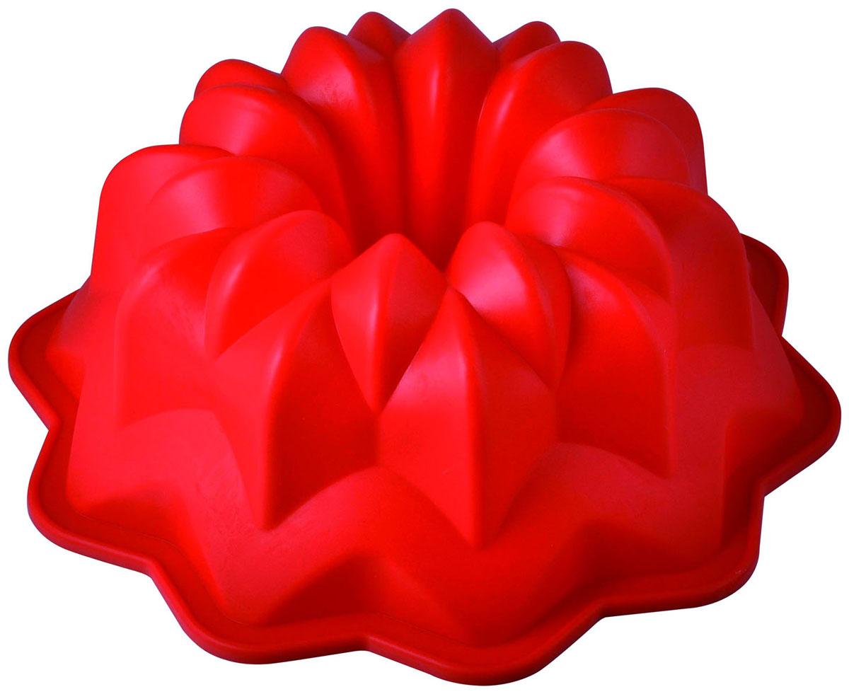 Форма для выпечки и заморозки Regent Inox Флора, силиконовая, цвет: красный, диаметр 27 см93-SI-FO-52Форма для выпечки и заморозки Флора выполнена из силикона и предназначена для изготовления выпечки, желе, мороженого и др. С помощью формы в виде красивого цветка любой день можно превратить в праздник и порадовать детей.Силиконовые формы выдерживают высокие и низкие температуры (от -40°С до +230°С). Они эластичны, износостойки, легко моются, не горят и не тлеют, не впитывают запахи, не оставляют пятен. Силикон абсолютно безвреден для здоровья.Не используйте моющие средства, содержащие абразивы. Можно мыть в посудомоечной машине. Подходит для использования во всех типах печей. Характеристики:Материал: силикон. Общий размер формы:см х 27 см х 11 см. Диаметр отверстия: 7 см. Размер упаковки: 39 см х 34,5 см х 12 см. Изготовитель: Италия. Артикул: 93-SI-FO-52.