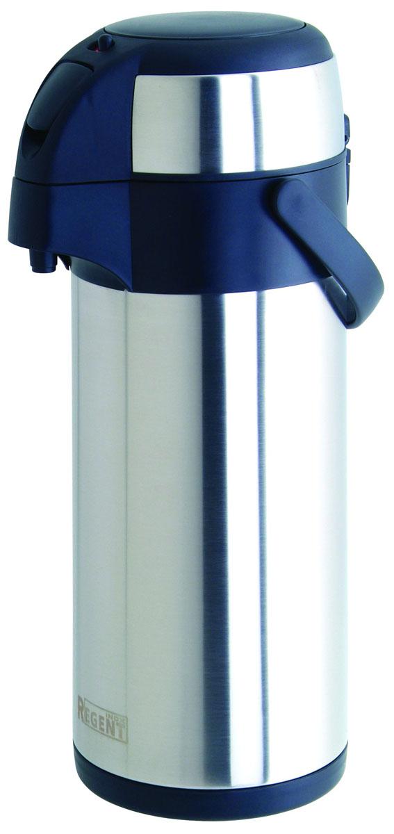 """Термос """"Regent Inox"""" изготовлен из высококачественной пищевой нержавеющей стали с современной технологией теплоизолляции. Высокая надёжность и долговечность. Имеется глубокий вакуум и двойная металлическая колба, способствующая более длительному сохранению тепла. Механизм с пневманасосом позволит без труда, с помощью одного нажатия на крышку термоса, налить содрежимое в чашку. Термос удобен в использовании дома, на даче, в турпоходе и на рыбалке. Пригодится на работе, в офисе и командировке, экономит электроэнергию и время. Легко разбирается и моется. Характеристики:Материал: пластик, нержавеющая сталь. Объем: 2 л. Диаметр термоса: 14 см. Высота термоса (с учётом крышки): 31 см. Размер упаковки: 20 см х 17 см х 32 см. Артикул: 93-TE-G-1-2000."""