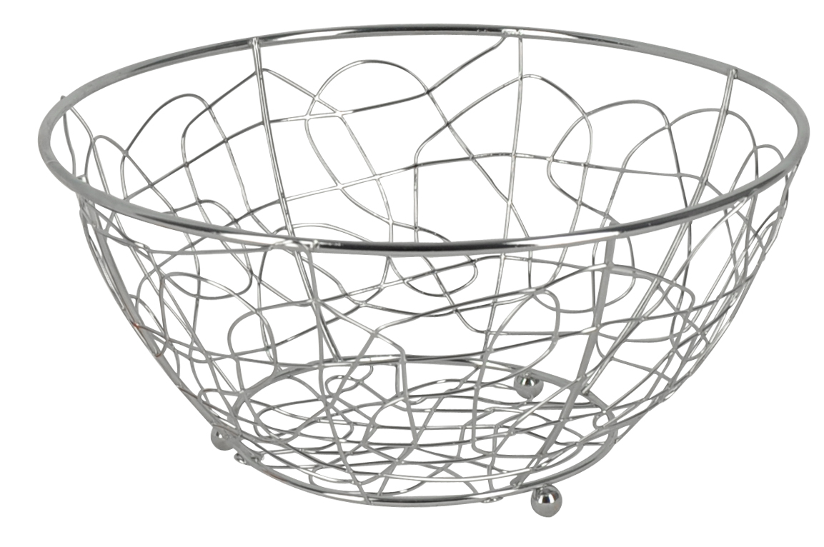 Фруктовница Trina, круглая. 93-TR-01-0193-TR-01-01Современный дизайн фруктовницыTrina, изготовленной из хромированной стали, идеально впишется в интерьер современной кухни. Выполнена в виде чаши, стенки которой состоят из переплетений металлических прутков. Фруктовница имеет ножки с металлическими шариками - для устойчивости. Характеристики:Материал:хромированная сталь. Размер: 23 см х 23 см х 12 см. Размер упаковки: 23,5 см х 23,5 см х 12,2 см. Производитель: Италия. Артикул:93-TR-01-01.