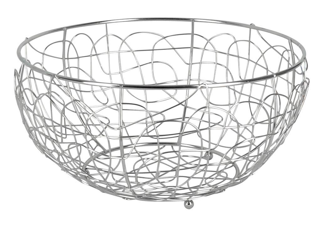 Фруктовница Trina, круглая. 93-TR-01-0293-TR-01-02Современный дизайн фруктовницыTrina, изготовленной из хромированной стали, идеально впишется в интерьер современной кухни. Выполнена в виде чаши, стенки которой состоят из узоров из металлических прутков. Фруктовница имеет ножки с металлическими шариками - для устойчивости. Характеристики:Материал:хромированная сталь. Размер: 29 см х 29 см х 15 см. Размер упаковки: 29 см х 29 см х 15 см. Производитель: Италия. Артикул:93-TR-01-02.