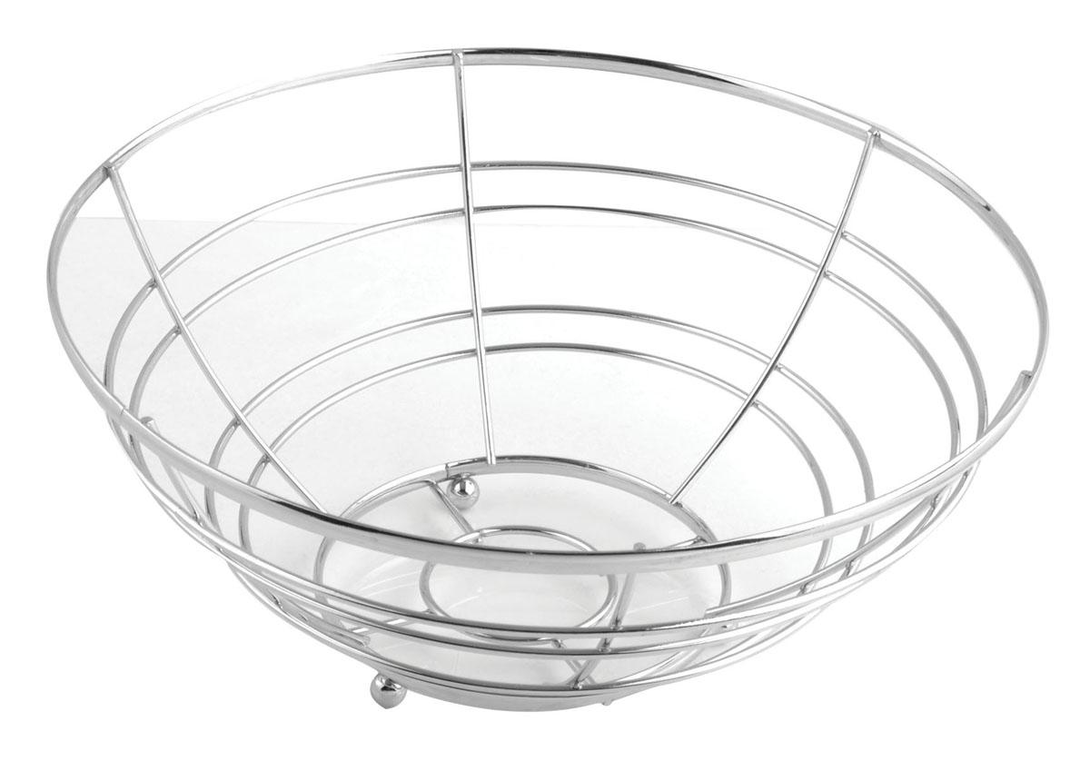 Фруктовница Trina, круглая. 93-TR-01-0693-TR-01-06Современный дизайн фруктовницыTrina, изготовленной из хромированной стали, идеально впишется в интерьер современной кухни. Выполнена в виде чаши, стенки которой состоят из металлических прутков. Фруктовница имеет ножки с металлическими шариками - для устойчивости. Характеристики:Материал:хромированная сталь. Размер: 25 см х 25 см х 12 см. Размер упаковки: 25,5 см х 25,5 см х 12,5 см. Производитель: Италия. Артикул:93-TR-01-06.