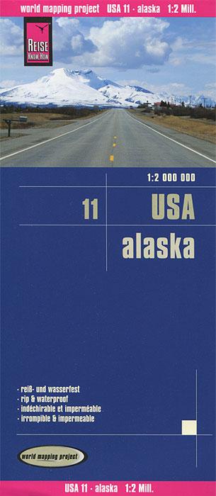 USA. Alaska. Карта
