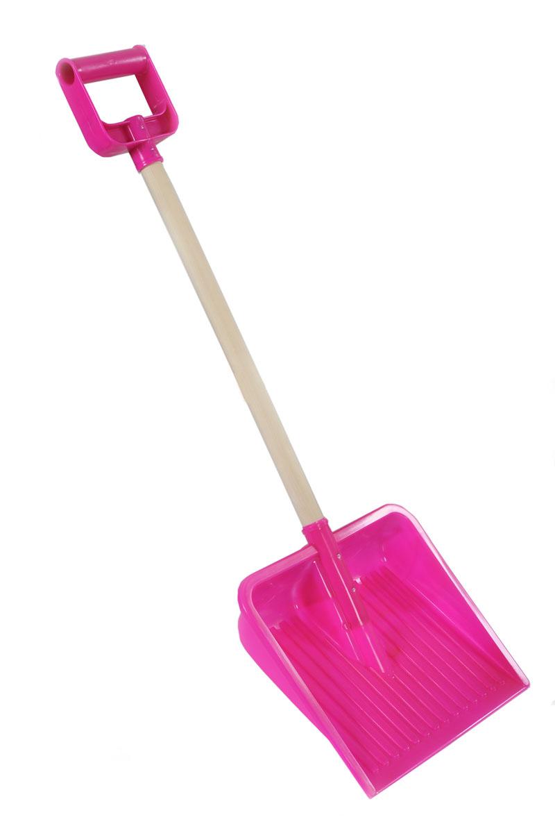 Лопата с деревянной ручкой Plasto, цвет: розовый, 80 см