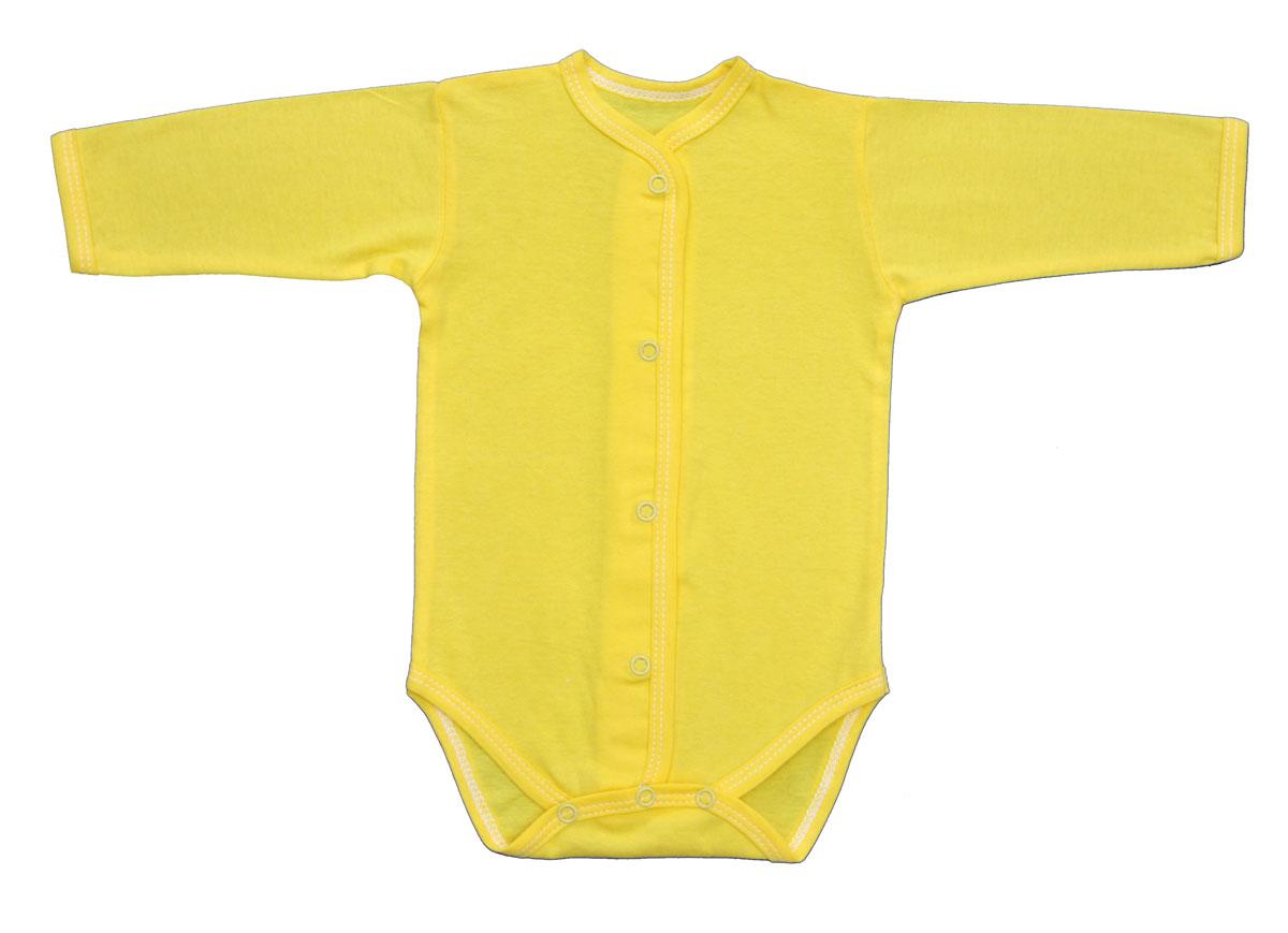Боди детское Трон-Плюс, цвет: желтый. 5866. Размер 80, 12 месяцев5866Детское боди Трон-плюс с длинными рукавами послужит идеальным дополнением к гардеробу ребенка, обеспечивая ему наибольший комфорт. Изготовленное из кулирного полотна - натурального хлопка, оно необычайно мягкое и легкое, не раздражает нежную кожу ребенка и хорошо вентилируется, а эластичные швы приятны телу младенца и не препятствуют его движениям.Боди с длинными рукавами имеет удобные застежки-кнопки по всей длине и на ластовице, которые помогают легко переодеть ребенка или сменить подгузник.Боди полностью соответствует особенностям жизни малыша в ранний период, не стесняя и не ограничивая его в движениях!