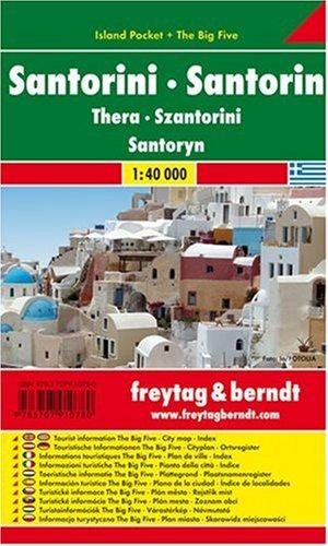 Santorini: Pocket Map