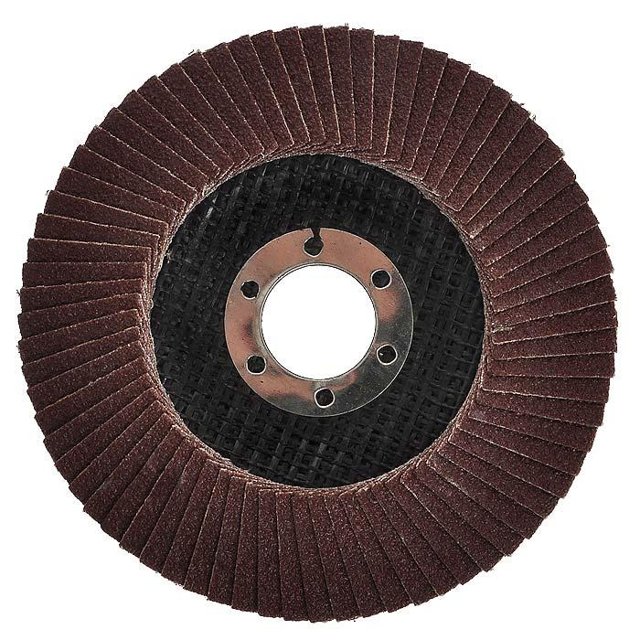 Диск наждачный FIT, лепестковый, 115 мм, Р80 3954439544Диск наждачный FIT, лепестковый используется в шлифовальных машинах для обработки металла и нержавеющей стали. Диск имеет наклонную форму, которая хорошо подходит для шлифования неровных поверхностей. Основание оснастки из стекловолокна, а абразив из аксида алюминия, таким образом, шлифование получается очень качественным. Характеристики:Материал: алюминий-оксидный абразивный слой, тканевая основа. Диаметр: 115 мм. Посадочный диаметр: 22 мм. Зернистость: Р80 Размеры круга: 11,5 см х 11,5 см х 1 см. Размеры упаковки: 11,5 см х 11,5 см х 1 см.