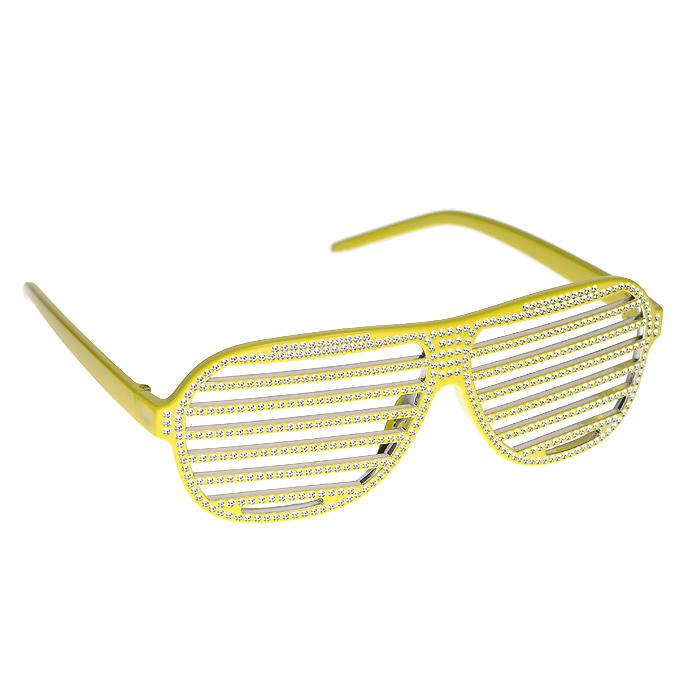 Очки карнавальные Хиппи, цвет: желтый93357Оригинальные карнавальные очки Хиппи выполнены из пластика желтого цвета и частично окрашены блестящей серебристой краской для придания экстравагантности и шика. Легкие забавные очки универсального размера просто незаменимы, если вы хотите повеселить друзей и быть ярким и оригинальным на вечеринке. Характеристики: Материал: пластик. Размер: универсальный (one size). Цвет: желтый. Артикул: 93357.
