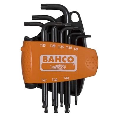 Набор шестигранников Bahco(Torx), 8 штBE-9675Набор шестигранников Bahco(Torx) имеет черненые ключи. Шарообразный конец длинного плеча позволяет наклонять ключ при монтаже даже на 30°. Характеристики: Материал: пластик, металл. Размеры ключей: T9 0,25 см, T10 0,274 см, T15 0,327см, T20 3,86 см, T25 0,443 см, T27 0,499 см, T30 0,552 см, T40 0,665 см. Размеры упаковки: 13 см х 9 см х 3 см.