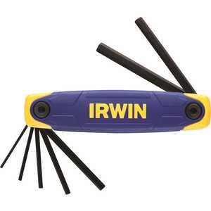 Складной набор шестигранников Irwin, 7 штT10765Набор складных шестигранников Irwin имеет различный диапазон размеров ключей в одном наборе. Мягкая прорезиненная рукоятка для комфорта и удобства в работе. Характеристики: Материал: пластик, металл, резина. Размеры ключей: 0,2 см, 0,25 см, 0,3 см, 0,4 см, 0,5 см, 0,6 см, 0,8 см. Размеры ручки: 12,5 см х 3,5 см х 3 см. Размеры упаковки: 12,5 см х 3,5 см х 3 см.