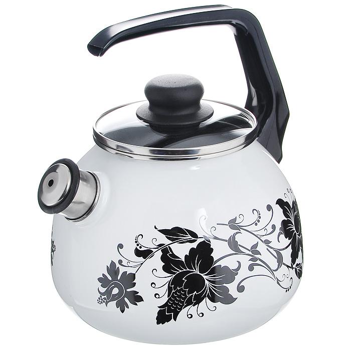 Чайник Tango со свистком, цвет: белый, черный, 3 л1RC12, белый, черный TangoЧайник Vitross Tango изготовлен из высококачественного стального проката со стеклокерамическим покрытием. Корпус белого цвета оформлен изящным узором. Стеклокерамика инертна и устойчива к пищевым кислотам, не вступает во взаимодействие с продуктами и не искажает их вкусовые качества. Прочный стальной корпус обеспечивает эффективную тепловую обработку пищевых продуктов и не деформируется в процессе эксплуатации.Чайник оснащен черной пластиковой удобной ручкой. Крышка чайника выполнена из стекла с пароотводом, что позволяет сохранять тепло. Носик чайника с насадкой-свистком позволит вам контролировать процесс подогрева или кипячения воды. Чайник Vitross Tango пригоден для использования на всех видах плит, включая индукционные. Можно мыть в посудомоечной машине. Характеристики:Материал: нержавеющая сталь, эмалевое покрытие, стекло. Цвет: белый, черный. Объем: 2 л. Диаметр основания чайника: 18 см. Высота чайника (с учетом ручки): 22 см. Размер упаковки: 20 см х 25 см х 20 см.