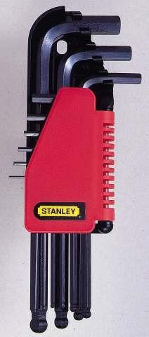 Набор шестигранников Stanley, 9 шт0-69-256Набор шестигранников Stanley имеет складной футляр для хранения с маркировкой, который позволяет быстро вынимать нужный ключ. Шар на длинной части ключа позволяет работать под углом к оси крепежных элементов, расположенных в труднодоступных местах. Характеристики: Материал: пластик, металл. Размеры ключей: 1 см, 0,8 см, 0,6 см, 0,5 см, 0,4 см, 0,3 см, 0,25 см, 0,2 см, 0,15 см. Размеры упаковки: 25,5 см х 10 см х 3 см.