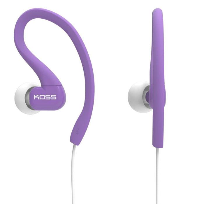 Koss KSC-32, Purple наушники15116456KOSS KSC32 – спортивные вставные наушники с дополнительным заушным креплением, разработанные при сотрудничестве с легендарной олимпийской чемпионкой Дарой Торрес. Модель сделана ультралёгкой и комфортной, прочный кабель гарантирует износостойкость. Благодаря этому, а также надёжному креплению, KSC32 идеально подходят для занятий спортом.