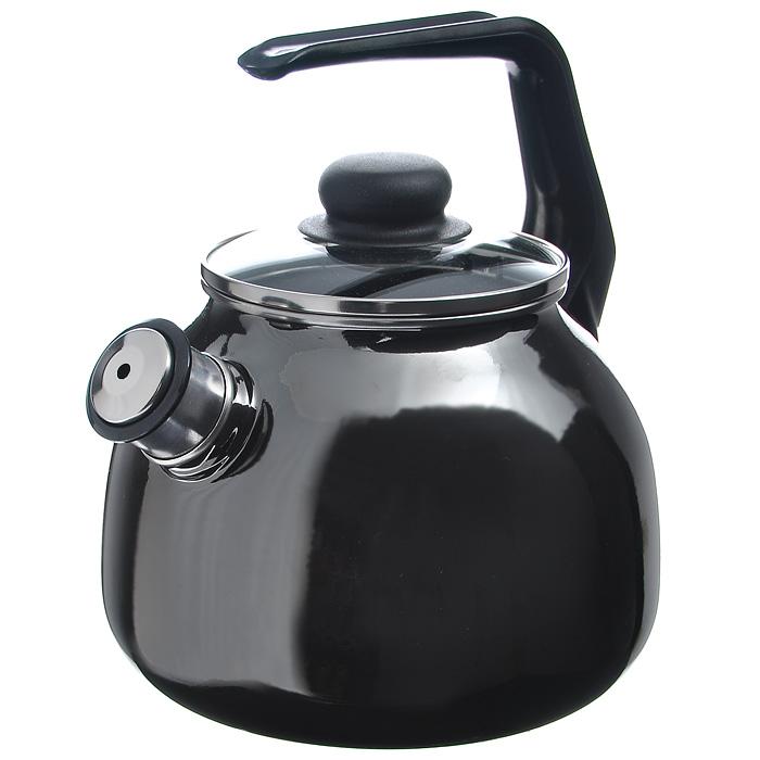 Чайник Bon Appetit со свистком, цвет: мокрый асфальт, 3 л ороситель truper с 3 соплами с пластиковой основой