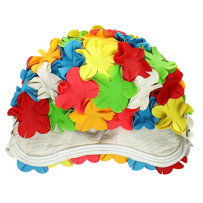 Шапочка для плавания MadWave Flower, женскаяM0516 01 0 00WЯркая латексная шапочка для плавания MadWave Flower станет лучшим дополнением к любому купальному костюму. Она плотно облегает голову и защищает волосы от намокания при плавании, не доставляя при этом никакого дискомфорта. Шапочка глубоко закрывает уши, ее поверхность оформлена объемными цветами. Характеристики:Материал: резина, латекс. Обхват шапочки (в нерастянутом виде): 51 см. Артикул: M0516 01 0 00W.