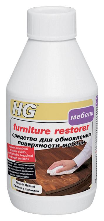 Средство HG для обновления поверхности мебели, 250 мл410030161Средство качественно очищает и обновляет внешний вид мебели. Удаляет загрязнения, следы от стаканов, пятна от воды и алкоголя, маскирует царапины. Возвращает тусклой и полинявшей поверхности ее первоначальный цвет. Характеристики: Объем: 250 мл. Размер упаковки: 13 см х 7 см х 4,5 см.