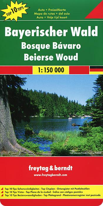 Bayerischer Wald: Auto + Freizeitkarte