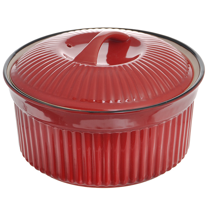 Кастрюля керамическая Frybest Coral с крышкой, цвет: красный, черный, 1 лRC-18Круглая кастрюля Frybest Coral выполнена из экологически чистой керамики, абсолютно безвредной для человека. Внутренняя поверхность черного цвета идеально гладкая, что позволяет легко мыть и ухаживать за посудой. Внешняя поверхность красного цвета рельефная. Керамическая посуда серии Coral выдерживает температуру от +20°C до +180°C, благодаря чему ее можно использовать в духовке и микроволновой печи. Нельзя использовать на открытом огне.Кастрюля имеет толстые стенки и дно, что позволяет ей равномерно нагреваться и долго сохранять тепло. Приготовленные в керамической посуде блюда сохраняют все витамины, а благодаря низкой теплопроводности материала, блюда приобретают незабываемый вкус. Кастрюля оснащена плотно прилегающей керамической крышкой, что позволяет добиться равномерной циркуляции тепла внутри кастрюли, за счет чего продукты готовятся равномерно и не пригорают. Стильная и красивая форма идеально подходит для торжественных мероприятий: такую посуду можно ставить на стол сразу из печи. Можно мыть в посудомоечной машине. Характеристики:Материал: керамика. Цвет: красный, черный. Объем: 1 л. Внутренний диаметр кастрюли:14,5 см. Внешний диаметр: 17,5 см. Высота стенки кастрюли: 8,5 см. Толщина стенки: 0,8 см. Толщина дна: 1,2 см. Размер упаковки: 18 см х 18 см х 10 см. Артикул: RC-18.