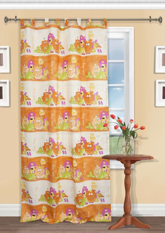 Штора Kauffort Кидс, на петлях, цвет: оранжевый, высота 290 смUN111060630Яркая детская штора Kauffort Кидс, выполненная из плотной ткани оранжевого цвета, станет великолепным украшением окна в детской. Штора оформлена красочными изображениями животных Африки. Оригинальная текстура ткани и яркий цветовой дизайн привлекут внимание ребенка и органично впишутся в интерьер помещения детской. Штора оснащена петлями для крепления на круглый карниз и шторной лентой для красивой сборки. В комплекте - термоклеевая лента, которую также можно использовать для сборки. Характеристики: Материал: 25% полиэстер, 75% хлопок. Цвет: оранжевый. Длина петли: 10 см. Размер упаковки: 27 см х 36 см х 3 см. Артикул: UN111060630.В комплект входит: Штора - 1 шт. Размер (Ш х В): 150 см х 290 см.