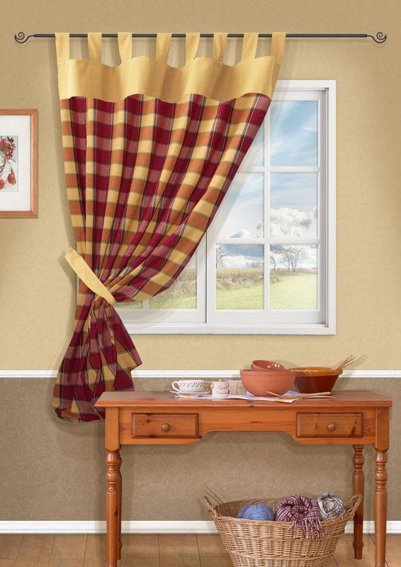 Штора Kauffort Вилла, на петлях, цвет: желтый, высота 191 смUN111213675Штора Kauffort Вилла выполнена из качественного материала, изготовленного из хлопка, полиэстера и акрила. Полотно выполнено из клетчатой ткани желтого цвета и украшено широким желтым кантом по верху. Для более изящного расположения шторы на окне прилагается подхват из ткани желтого цвета.Качественный материал, оригинальный дизайн и приятная цветовая гамма привлекут к себе внимание и органично впишутся в интерьер помещения. Штора оснащена петлями для крепления на круглый карниз. Штора Kauffort Вилла станет великолепным украшением любого окна. Характеристики: Материал: 55% хлопок, 30% полиэстер, 15% акрил. Цвет: желтый. Размер упаковки: 37 см х 27 см х 2,5 см. Артикул: UN111213675.В комплект входит: Штора - 1 шт. Размер (Ш х В): 140 см х 191 см (отклонение размера ~3 см). Подхват - 1 шт. Размер (Ш х В): 8 см х 70 см (отклонение размера ~3 см).
