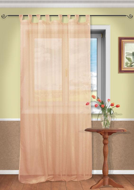 Штора Kauffort Анастасия, на петлях, цвет: терракотовый, высота 290 смUN111400156Воздушная штора Kauffort Анастасия, выполненная из полупрозрачной вуали терракотового цвета, станет великолепным украшением любого окна. Тонкое плетение и нежная цветовая гамма привлекут к себе внимание и органично впишутся в интерьер помещения. Штора оснащена петлями для крепления на круглый карниз и шторной лентой для красивой сборки. Характеристики: Материал: 100% полиэстер. Цвет: терракотовый. Размер упаковки: 37 см х 27 см х 2 см. Артикул: UN111400156.В комплект входит: Штора - 1 шт. Размер (Ш х В): 150 см х 290 см (отклонение размера ~ 1,5%).