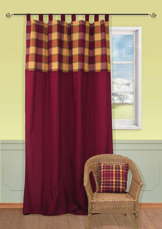 Штора Kauffort Дублин, на петлях, цвет: желтый, бордовый, зеленый, высота 287 смUN111973675Штора Kauffort Дублин выполнена из плотного текстильного материала, состоящего из хлопка, полиэстера и акрила. В верхней части штора украшена рисунком в крупную шотландскую клетку.Качественный материал, оригинальный дизайн и контрастная цветовая гамма привлекут к себе внимание и органично впишутся в интерьер помещения. Крепление на петлях. Штора дополнительно оснащена шторной лентой для красивой сборки.Штора Kauffort Дублин великолепно украсит любое окно. Характеристики: Материал: 32% хлопок, 38% полиэстер, 30% акрил. Цвет: желтый, бордовый, зеленый. Размер упаковки:40 см х 27 см х 2 см. Артикул: UN111973675.В комплект входит: Штора - 1 шт. Размер (Ш х В): 149 см х 287 см (отклонение размера ~1,5%).
