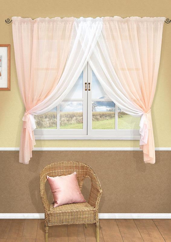 Комплект штор Kauffort Фируз, на ленте, цвет: светло-розовый, высота 160 смUN123001171Комплект штор Kauffort Фируз выполнен из высококачественного полиэстера. Комплект состоит из шторы и двух подхватов. Штора представляет собой два сшитых между собой полотна, выполненных из полупрозрачной тюлевой ткани. Штора оснащена шторной лентой для красивой сборки. Качественный материал, оригинальный дизайн и приятная цветовая гамма привлекут к себе внимание и органично впишутся в интерьер помещения.Комплект штор Kauffort Фируз станет великолепным украшением любого окна. Характеристики: Материал: 100% полиэстер. Цвет: светло-розовый. Размер упаковки: 38 см х 28 см х 3 см. Артикул: UN123001171.В комплект входит: Штора - 1 шт. Размер (Ш х В): 358 см х 160 см (отклонение размера ~ 1,5%). Подхват - 2 шт. Размер (Ш х Д): 8,5 см х 147 см (отклонение размера ~ 1,5%).