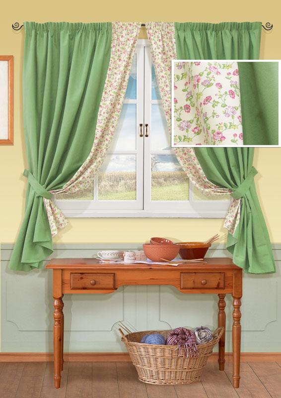 Комплект штор Kauffort Гардарики, на ленте, цвет: зеленый, высота 165 смUN123133180Комплект Kauffort Гардарики состоит из двух штор и двух подхватов. Предметы комплекта выполнены из качественного материала, состоящего из полиэстера и хлопка. Полотно штор выполнено из плотной ткани зеленого цвета и декорировано вставкой с цветочным рисунком.Качественный материал, оригинальный дизайн и приятная цветовая гамма привлекут к себе внимание и органично впишутся в интерьер помещения. Шторы оснащены лентой для красивой сборки.Комплект штор Kauffort Гардарики станет великолепным украшением любого окна. Характеристики: Материал: 70% хлопок, 30% полиэстер. Цвет: зеленый. Размер упаковки: 37 см х 30 см х 5 см. Артикул: UN123133180.В комплект входит: Штора - 2 шт. Размер (Ш х В): 168 см х 165 см (отклонение размера ~ 1,5%). Подхват - 2 шт. Размер (Ш х Д): 7,5 см х 66 см.