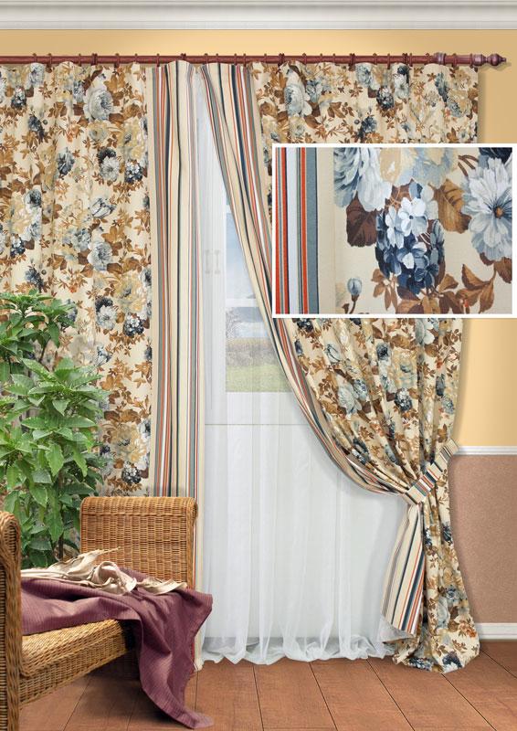Комплект штор Kauffort Идилия, на ленте, цвет: серый, высота 270 см735471Роскошный комплект штор Kauffort Идилия состоит из двух портьер, тюля и двух подхватов. Портьеры выполнены из плотного материала с цветочным рисунком, состоящего из полиэстера и хлопка.Тюль выполнен из легкого полиэстера белого цвета. Качественный материал, оригинальный дизайн и приятная цветовая гамма привлекут к себе внимание и органично впишутся в интерьер помещения. Портьеры и тюль оснащены лентой для красивой сборки. Комплект штор Kauffort Идилия станет великолепным украшением любого окна. Характеристики: Материал: 55% хлопок, 45% полиэстер. Цвет: серый. Размер упаковки: 37 см х 31 см х 8 см. Артикул: UN123321660.В комплект входит: Портьера - 2 шт. Размер (Ш х В): 170 см х 270 см (отклонение размера ~ 1,5%). Тюль - 1 шт. Размер (Ш х В): 450 см х 270 см (отклонение размера ~ 1,5%). Подхват - 2 шт. Размер (Ш х Д): 8 см х 65 см.