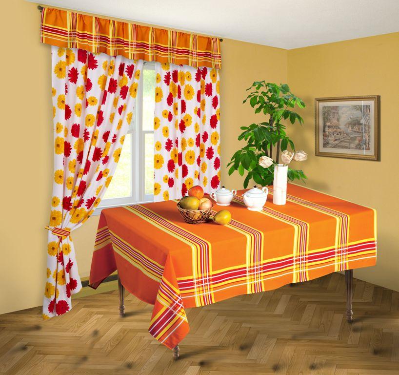Скатерть Герберы, цвет: оранжевый, 145x 180 смСПГ-145-180Яркая скатерть Герберы выполнена из габардина оранжевого цвета в полоску. Такая скатерть очень прочная, легкая и не мнется. Использование скатерти сделает застолье более торжественным, поднимет настроение гостей и приятно удивит их вашим изысканным вкусом. Также вы можете использовать эту скатерть для повседневной трапезы, превратив каждый прием пищи в волшебный праздник.Максимальная температура при стирке - 30°, изделие нельзя отбеливать. Характеристики:Материал: габардин (100% п/э). Цвет: оранжевый. Размер скатерти:145 см х 180 см. Размер упаковки: 26 см х 34 см х 3 см. Артикул: СПГ-145-180.