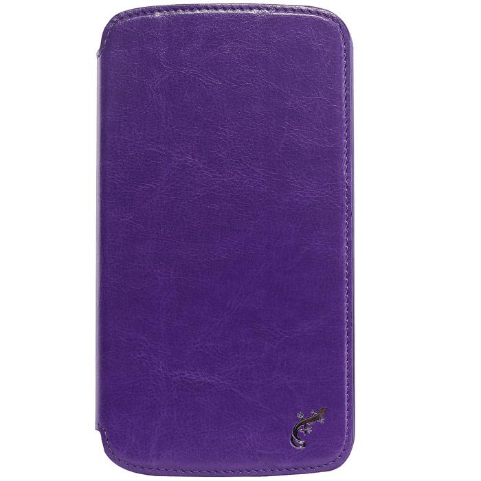 G-case Slim Premium чехол для Samsung Galaxy Mega 6.3, VioletGG-103Стильный чехол-книжка G-case Slim Premium для Samsung Galaxy Mega 6.3 выполнен из высококачественной кожи и служит для защиты смартфона от царапин, пыли и падений. Чехол надежно фиксирует Ваш телефон, практически не утолщая его. В чехле G-Case Slim Premium все технические отверстия (под кнопки управления, разъем подключения гарнитуры, камеру) в точности выполнены по размерам и местоположению. Благодаря функции подставки Вы можете устанавливать смартфон в несколько положений.