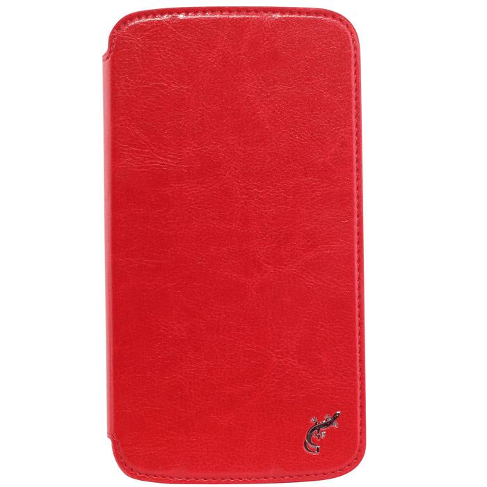 G-case Slim Premium чехол для Samsung Galaxy Mega 6.3, RedGG-100Стильный чехол-книжка G-case Slim Premium для Samsung Galaxy Mega 6.3 выполнен из высококачественной кожи и служит для защиты смартфона от царапин, пыли и падений. Чехол надежно фиксирует Ваш телефон, практически не утолщая его. В чехле G-Case Slim Premium все технические отверстия (под кнопки управления, разъем подключения гарнитуры, камеру) в точности выполнены по размерам и местоположению. Благодаря функции подставки Вы можете устанавливать смартфон в несколько положений.
