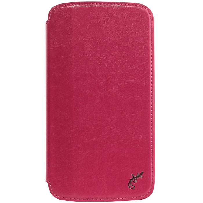 G-case Slim Premium чехол для Samsung Galaxy Mega 6.3, PinkGG-99Стильный чехол-книжка G-case Slim Premium для Samsung Galaxy Mega 6.3 выполнен из высококачественной кожи и служит для защиты смартфона от царапин, пыли и падений. Чехол надежно фиксирует Ваш телефон, практически не утолщая его. В чехле G-Case Slim Premium все технические отверстия (под кнопки управления, разъем подключения гарнитуры, камеру) в точности выполнены по размерам и местоположению. Благодаря функции подставки Вы можете устанавливать смартфон в несколько положений.