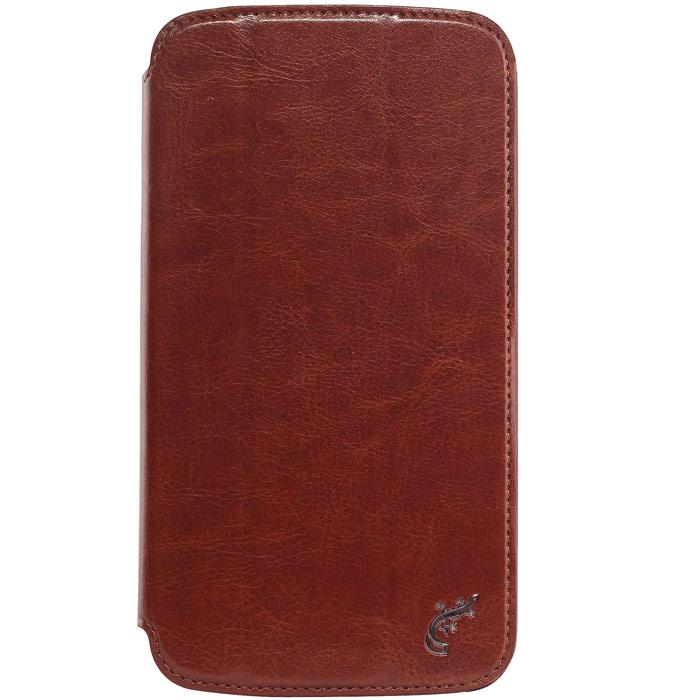 G-case Slim Premium чехол для Samsung Galaxy Mega 6.3, BrownGG-98Стильный чехол-книжка G-case Slim Premium для Samsung Galaxy Mega 6.3 выполнен из высококачественной кожи и служит для защиты смартфона от царапин, пыли и падений. Чехол надежно фиксирует Ваш телефон, практически не утолщая его. В чехле G-Case Slim Premium все технические отверстия (под кнопки управления, разъем подключения гарнитуры, камеру) в точности выполнены по размерам и местоположению. Благодаря функции подставки Вы можете устанавливать смартфон в несколько положений.
