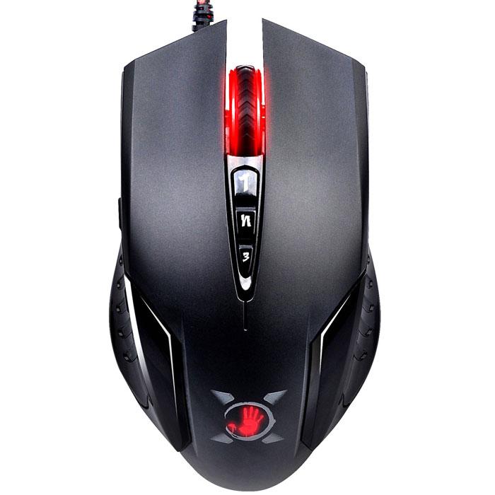 A4Tech Bloody V5, Black проводная игровая мышь89570Автоматическое подавление отдачи мыши A4Tech Bloody V5 обеспечивает максимальную четкость выстрелов. Мышь также имеет возможность выбора режима стрельбы нажатием одной кнопки благодаря продвинутому программному обеспечению. На ваш выбор предлагается 5 режимов разрешения. Минимальное время отклика дает преимущество в компьютерных играх, что позволяет моментально реагировать на действия противников во время игры.Встроенная память 160 КбМаксимальное ускорение 30 GЧастота опроса шины: 125/250/500/1000 ГцВремя отклика до 1 мс