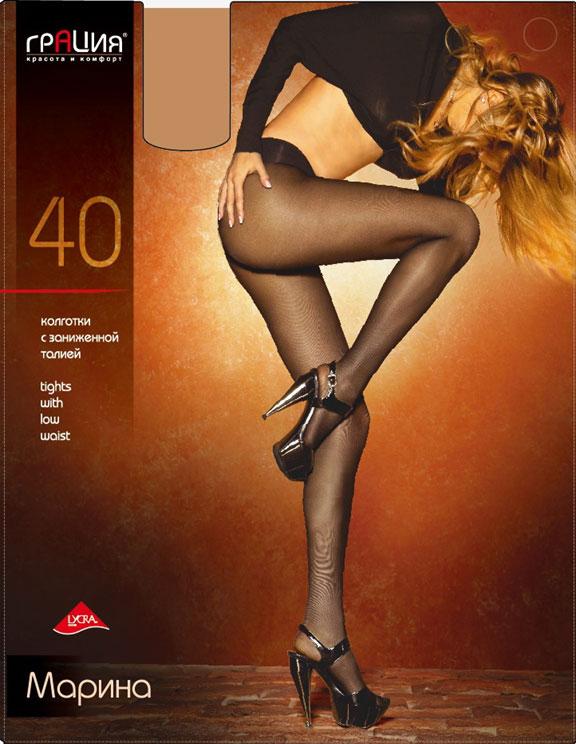 Колготки Грация Марина 40, цвет: телесный. Размер 3