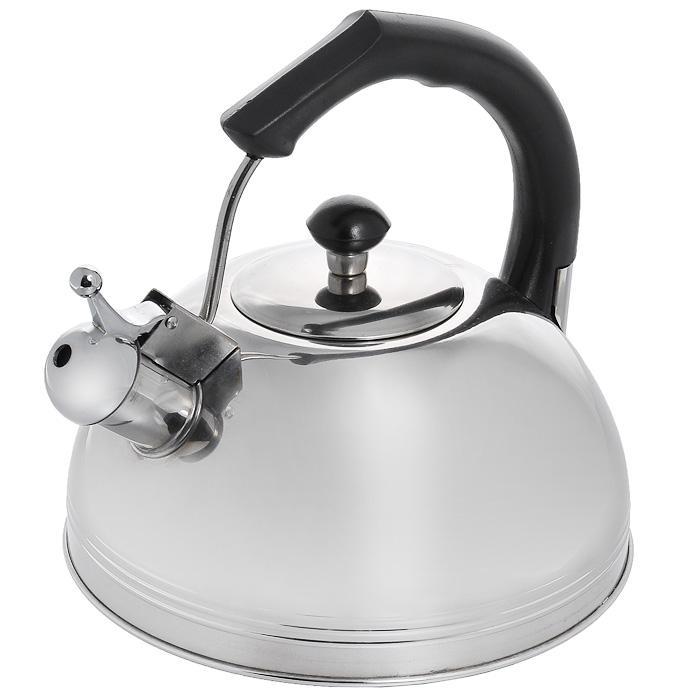 Чайник Appetite со свистком, 3 лJX-5052Чайник Appetite изготовлен из высококачественной нержавеющей стали с 3-х слойным термоаккумулирующим дном. Нержавеющая сталь обладает высокой устойчивостью к коррозии, не вступает в реакцию с холодными и горячими продуктами и полностью сохраняет их вкусовые качества. Особая конструкция дна способствует высокой теплопроводности и равномерному распределению тепла. Чайник оснащен черной пластиковой удобной ручкой. Носик чайника имеет откидной свисток, звуковой сигнал которого подскажет, когда закипит вода. Чайник Appetite пригоден для использования на всех видах плит, кроме индукционных. Можно мыть в посудомоечной машине. Характеристики:Материал:нержавеющая сталь, пластик. Объем:3 л. Диаметр основания чайника: 22 см. Высота чайника (с учетом ручки):22 см. Размер упаковки: 22 см х 22 см х 22,5 см. Артикул: JX-5052.
