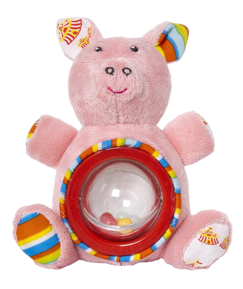 Мягкая игрушка-погремушка Акробат Хрюнтик игрушка подвеска акробат хрюнтик с колокольчиком