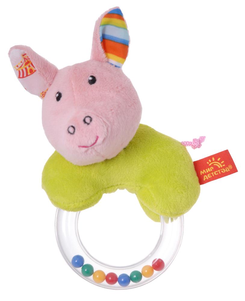 Игрушка-погремушка Мир детства Акробат Хрюнтик фиксатор двери мир детства мишка