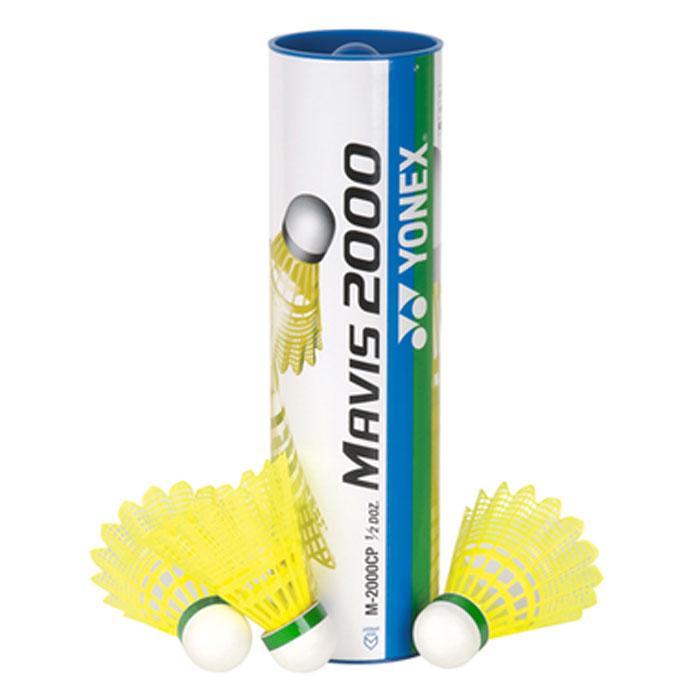 Воланы для бадминтона пластиковые Yonex Mavis 2000 slow, 6 штM-2000 slow/yYonex Mavis 2000 - качественные воланы из нейлоновых перьев. Благодаря наличию специальных ребер в конструкции юбки они лучше вращаются во время полета по заданной траектории.Mavis 2000 – новый бренд синтетических воланов от Yonex . Характеристики: Материал: пробка, пластик. Количество в упаковке: 6 шт. Размер упаковки: 24 см х 7 см х 7 см.