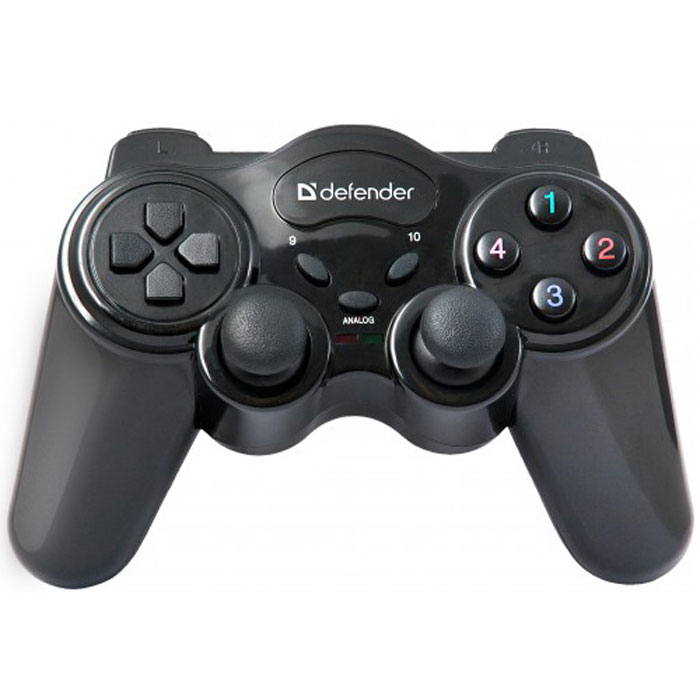 Defender Game Master беспроводной геймпад64257Практичный и удобный беспроводной геймпад Defender Game Master обеспечивает свободу движений в радиусе до 10 метров.