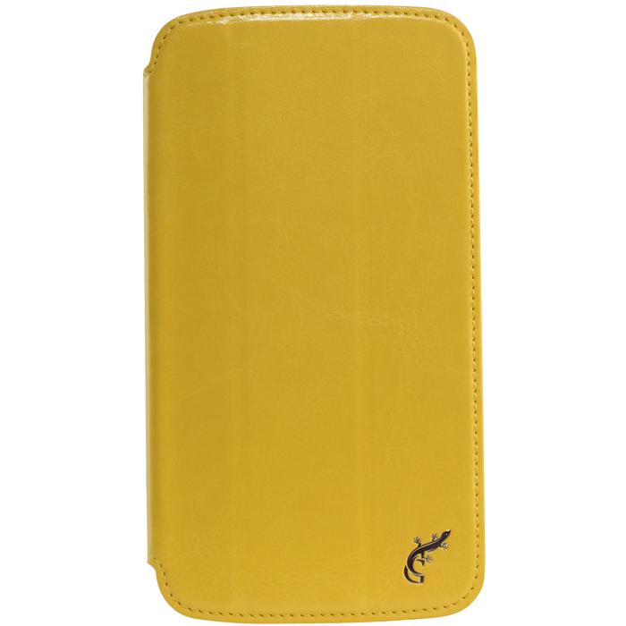 G-case Slim Premium чехол для Samsung Galaxy Mega 6.3, YellowGG-101Стильный чехол-книжка G-case Slim Premium для Samsung Galaxy Mega 6.3 выполнен из высококачественной кожи и служит для защиты смартфона от царапин, пыли и падений. Чехол надежно фиксирует Ваш телефон, практически не утолщая его. В чехле G-Case Slim Premium все технические отверстия (под кнопки управления, разъем подключения гарнитуры, камеру) в точности выполнены по размерам и местоположению. Благодаря функции подставки Вы можете устанавливать смартфон в несколько положений.