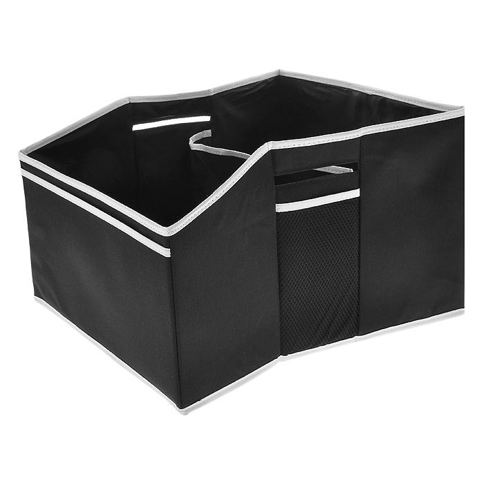 Сумка-органайзер в багажник TR-7114TR-7114Удобная сумка-органайзер, выполненная из крепкой ткани, вместит в себя все, что разложено по углам багажника.При загрязнении сумки-органайзера, предпочтительнее является сухая чистка. Характеристики: Материал:непромокаемая ткань ПВХ 600D. Размер (Д х Ш х В): 40 см х 36,5 см х 32 см. Цвет: черный. Артикул: TR-7114.